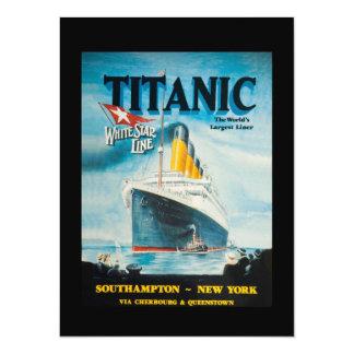 RMS Titanic Travel Ad 14 Cm X 19 Cm Invitation Card