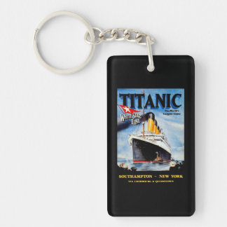 RMS Titanic Travel Ad Key Ring