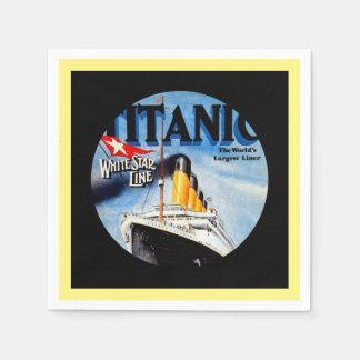 RMS Titanic Travel Ad Paper Napkin