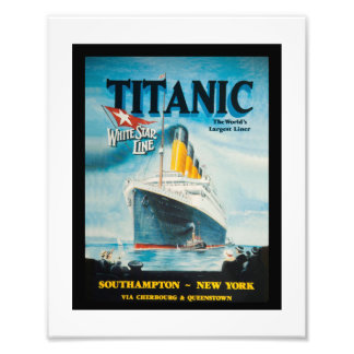 RMS Titanic Travel Ad Photo Print