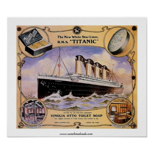 RMS Titanic Vintage Soap Ad Poster