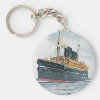RMS Viceroy of India Basic Round Button Key Ring