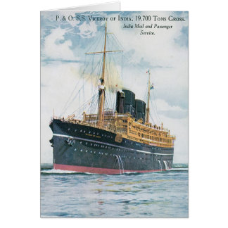 RMS Viceroy of India Card