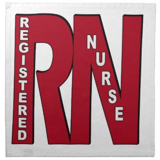 RN BIG RED REGISTERED NURSE NAPKIN