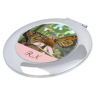 RN gifts Nurse Compact Mirrors Monarch Butterflies