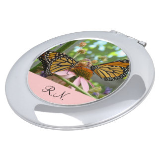 RN gifts Nurse Compact Mirrors Monarch Butterflies