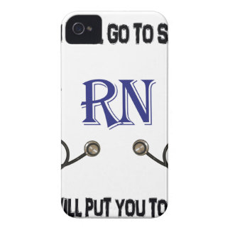 RN Go to Sleep iPhone 4 Case