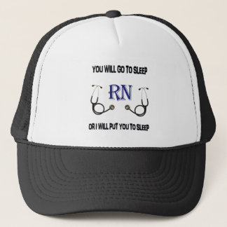 RN Go to Sleep Trucker Hat