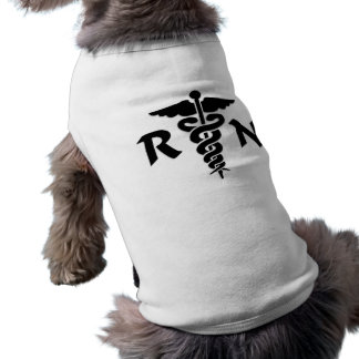 RN Medical Symbol Sleeveless Dog Shirt