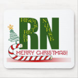 RN MERRY CHRISTMAS REGISTERED NURSE MOUSE PADS