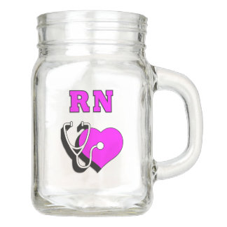 RN Nurse Dedication Mason Jar