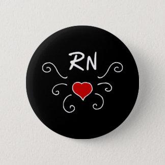 RN Nurse Love Tattoo 6 Cm Round Badge
