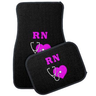 RN Nurses Care Car Mat