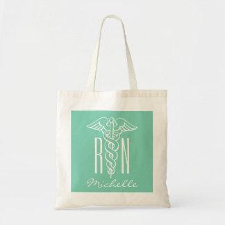 RN nursing caduceus tote bag for registered nurse