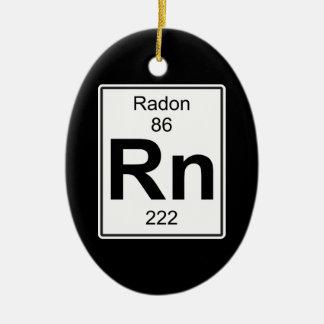 Rn - Radon Ceramic Ornament