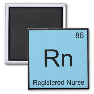 Rn - Registered Nurse Chemistry Element Symbol Tee Square Magnet