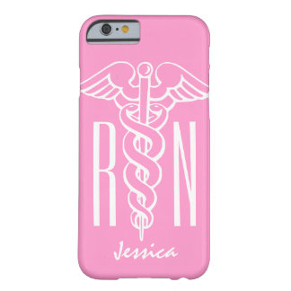 RN Registered Nurse iPhone 6 case | Pink caduceus