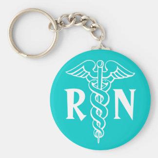 RN Registered Nurse Keychain with caduceus symbol