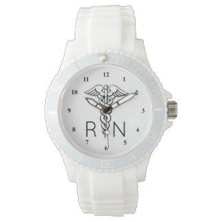 RN Registered Nurse Watch | Caduceus Symbol