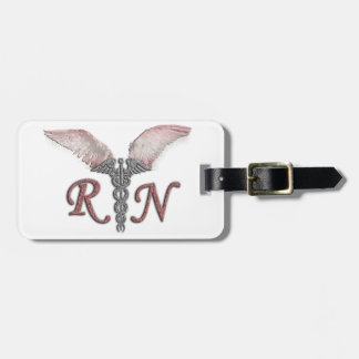 RN Registered Nurse with Angel Wings Luggage Tag