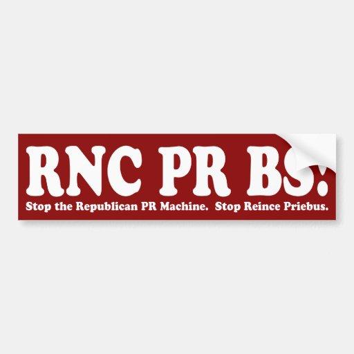 RNC PR BS Bumper Sticker