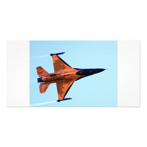 RNFA F16 Solo Display Personalized Photo Card