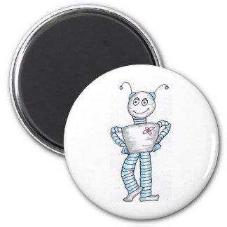 Ro bott 6 cm round magnet