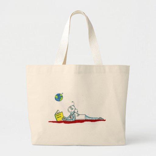 ro bott reading canvas bag