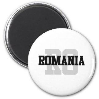 RO Romania 6 Cm Round Magnet