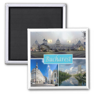 RO * Romania - Bucharest Square Magnet