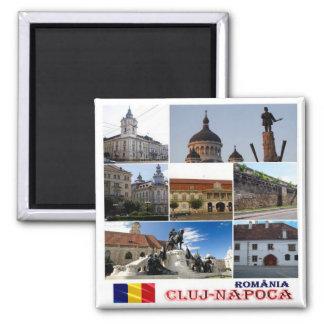 RO - Romania - Cluj-Napoca -  Mosaic Collage Square Magnet