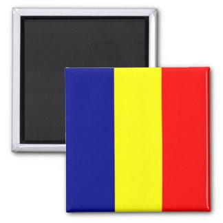 RO - Romania - Flag Square Magnet