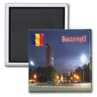 RO - Romania - Flag Square Magnet