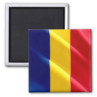 RO - Romania - Flag Waving Square Magnet
