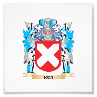 Roa Coat of Arms - Family Crest Photographic Print