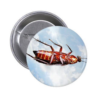 Roach Alone - Round Button