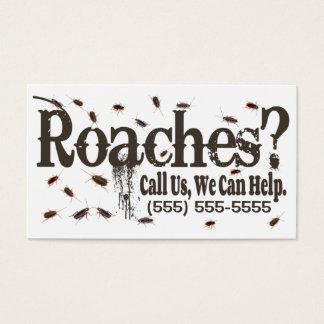 Roach Exterminator Advertisement Business Card
