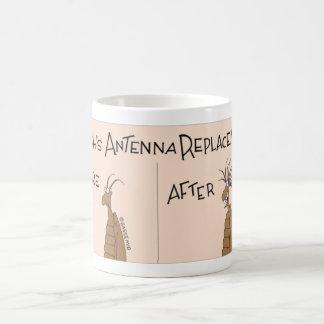 Roach gets an antenna replacement coffee mug