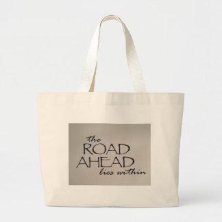 road ahead canvas bag