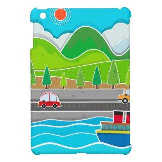 Road along the river scene iPad mini covers