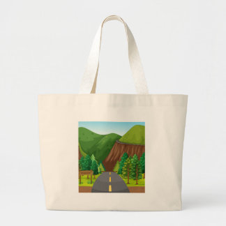 Road and mountain jumbo tote bag