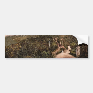 Road and railway Turin Italy classic Photochrom Bumper Stickers