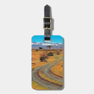Road And Snow-Capped Cathedral Range, Champagne Luggage Tag