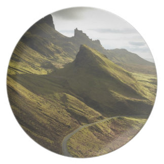 Road ascending The Quiraing, Isle of Skye, Dinner Plates