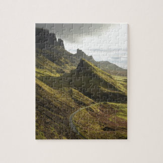 Road ascending The Quiraing, Isle of Skye, Jigsaw Puzzle
