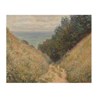 Road at La Cavee Pourville by Claude Monet Wood Print