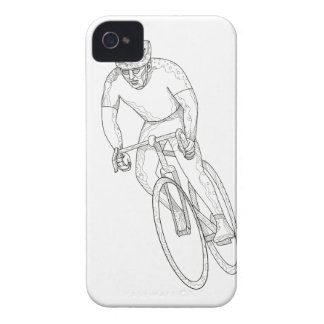 Road Bicycle Racing Doodle Case-Mate iPhone 4 Case