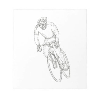 Road Bicycle Racing Doodle Notepad