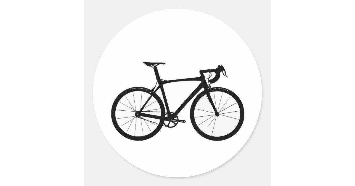 road bike logo classic round sticker