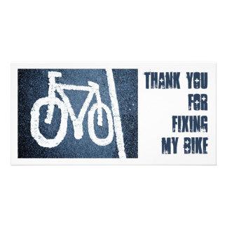 Road Bike - Thank You Custom Photo Card